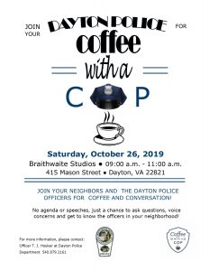 Coffee with a Cop @ Braithwaite Studios | Dayton | Virginia | United States