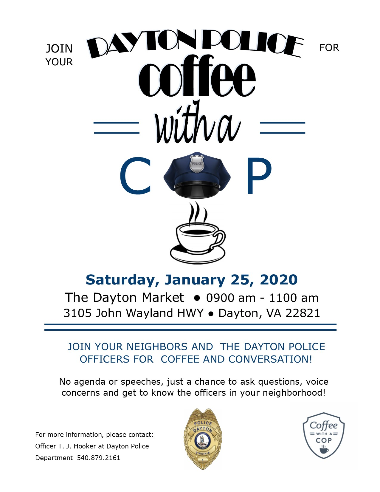Coffee with a Cop @ Dayton Market | Dayton | Virginia | United States